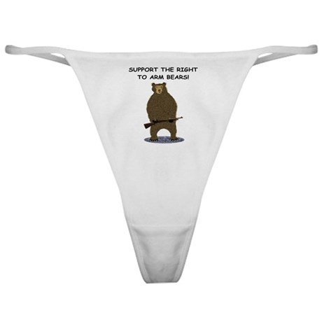 SUPPORT THE RIGHT TO ARM BEARS Classic Thong