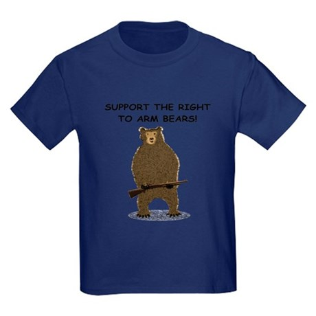 SUPPORT THE RIGHT TO ARM BEARS Kids Dark T-Shirt