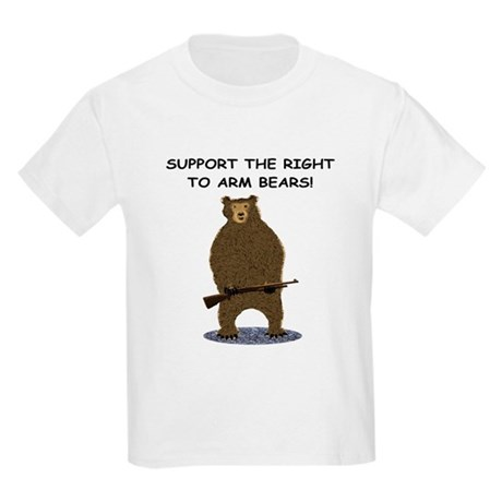 SUPPORT THE RIGHT TO ARM BEARS Kids Light T-Shirt