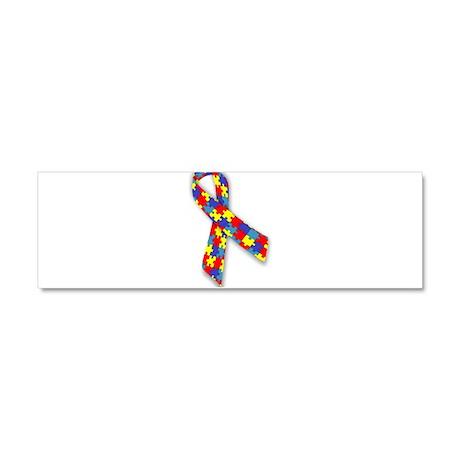 Autism Awareness | Puzzle Ribbon Car Magnet 10 x 3