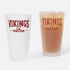 Vikings Soccer Drinking Glass