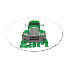 Trucker Earl 22x14 Oval Wall Peel