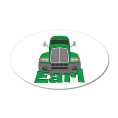 Trucker Earl 22x14 Oval Wall Peel