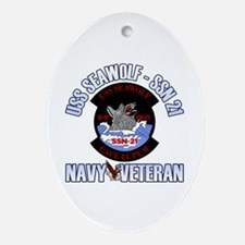 Navy Veteran SSN-21 Ornament (Oval)