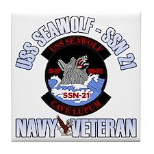 Navy Veteran SSN-21 Tile Coaster