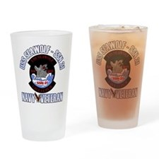 Navy Veteran SSN-21 Drinking Glass