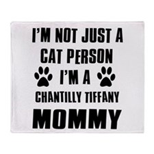 Chantilly Tiffany Cat Design Throw Blanket