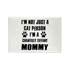Chantilly Tiffany Cat Design Rectangle Magnet