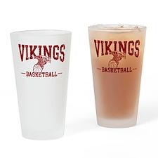 Vikings Basketball Drinking Glass