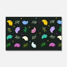Colorful Bird Pattern Car Magnet 20 x 12