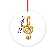 Music Director Treble Clef Ornament (Round)