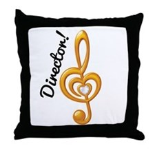 Music Director Treble Clef Throw Pillow