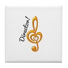 Music Director Treble Clef Tile Coaster