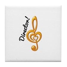 Music Director Treble Clef Tile Coaster