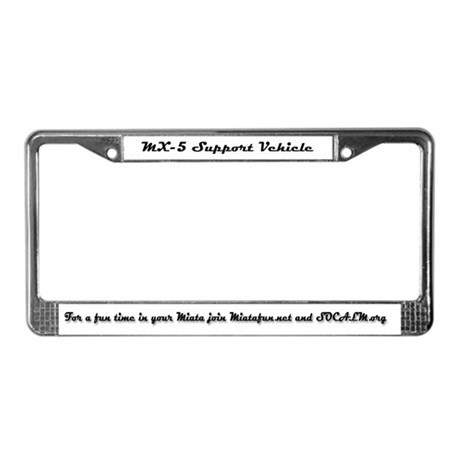 MX5 Support License Plate Frame