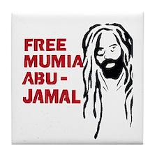 Mumia Abu Jamal Tile Coaster