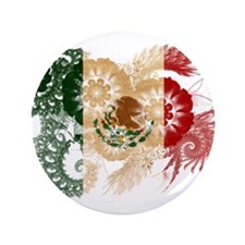 """Mexico Flag 3.5"""" Button (100 pack)"""