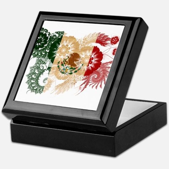 Mexico Flag Keepsake Box