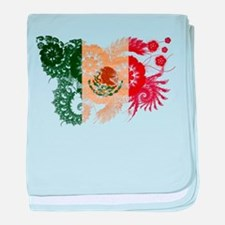Mexico Flag baby blanket