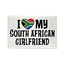South African Girlfriend Rectangle Magnet