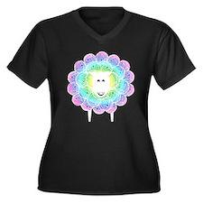 Funny Knitters Women's Plus Size V-Neck Dark T-Shirt
