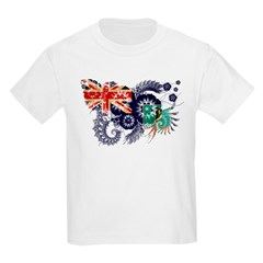Montserrat Flag Kids Light T-Shirt