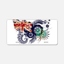 Montserrat Flag Aluminum License Plate