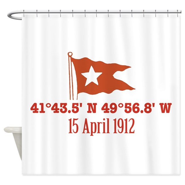 Titanic nautical flag shower curtain by gb titanic 6