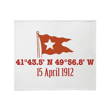 Titanic Nautical Flag Throw Blanket