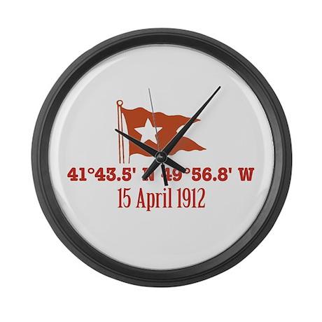 Titanic Nautical Flag Large Wall Clock