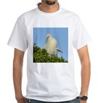Great Egret White T-Shirt