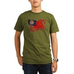 Myanmar Flag Organic Men's T-Shirt (dark)