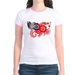 Myanmar Flag Jr. Ringer T-Shirt