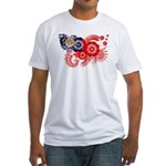 Myanmar Flag Fitted T-Shirt