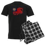 Myanmar Flag Men's Dark Pajamas