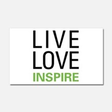 Live Love Inspire Car Magnet 20 x 12