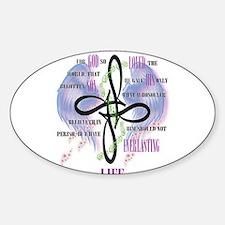 Funny John 3 16 oval Sticker (Oval)