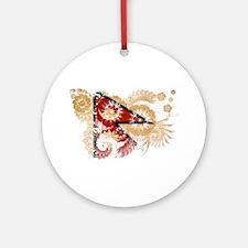 Nepal Flag Ornament (Round)