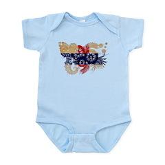 Netherlands Antilles Flag Infant Bodysuit