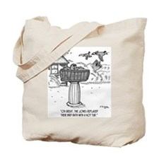 Replace Bird Bath With a Hot Tub Tote Bag