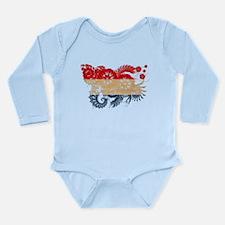 Netherlands Flag Long Sleeve Infant Bodysuit