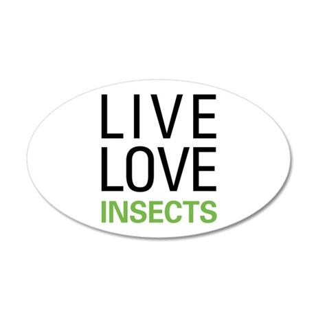 Live Love Insects 22x14 Oval Wall Peel