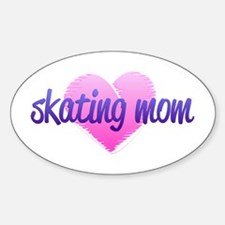 Skating Mom 2 Sticker (Oval)