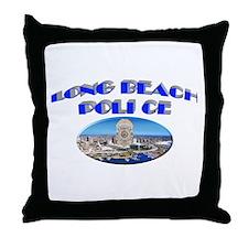 Long Beach Police Throw Pillow