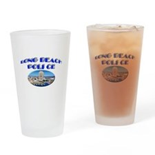Long Beach Police Drinking Glass