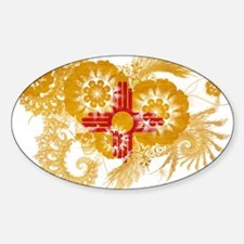 New Mexico Flag Sticker (Oval)