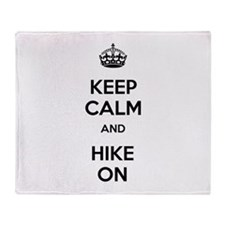 Keep Calm and Hike On Throw Blanket