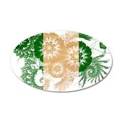 Nigeria Flag 22x14 Oval Wall Peel