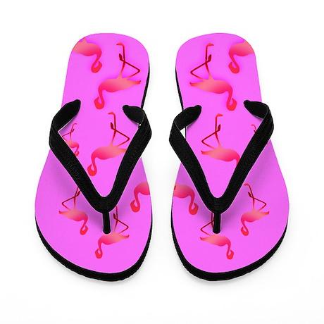 Hot Pink Flamingo Flip Flops