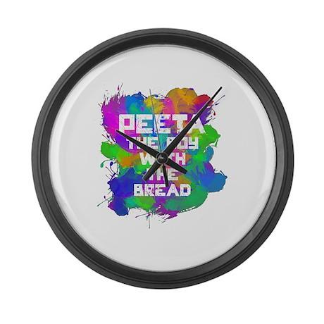 Love Peeta Large Wall Clock